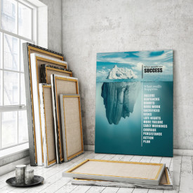 Tablou motivational - Success like an iceberg