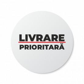 Etichete personalizate LIVRARE PRIORITARA, 100 buc, PVC, rezistente la apa
