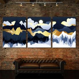 Set tablouri canvas - Frozen golden mountains