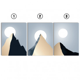 Set tablouri canvas - Solitary mountain peak
