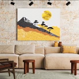 Tablou Canvas Japanese Golden Pattern