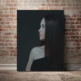 Tablou Canvas Lady in black