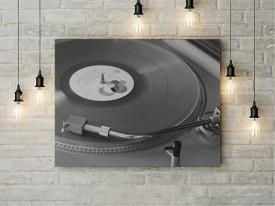 Tablou Canvas Muzica de pe vinil
