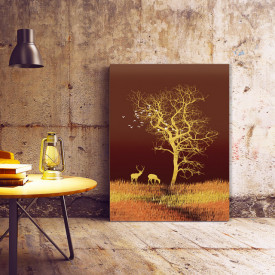 Tablou Canvas Sacred Golden Tree