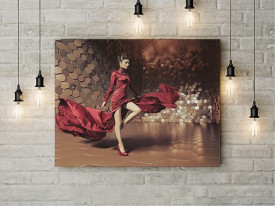 Tablou Canvas The Lady in Red