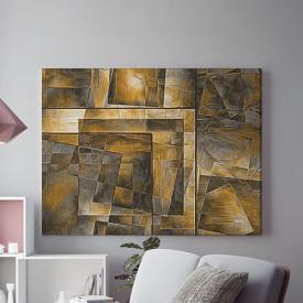 Tablou Canvas Vitralii aurii