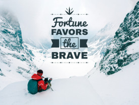 Tablou motivational - Fortune favors the brave