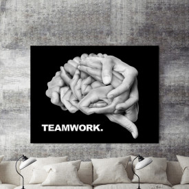 Tablou motivational - Teamwork (brain)