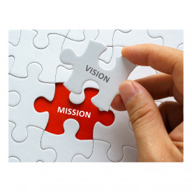 Tablou motivational - Vision and mission