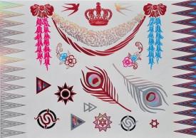Tatuaj temporar - bijuterii metalice - 21x15 cm