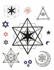 Tatuaj temporar -pentagrame- 20x15cm