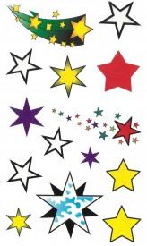 Tatuaj temporar -stele colorate- 17x10cm