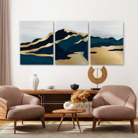 Set tablouri canvas - Lunar Golden Landscape