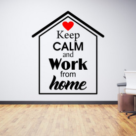 Sticker Keep calm and work from home