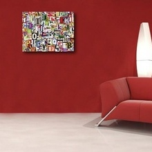 Tablou canvas - abstract litere