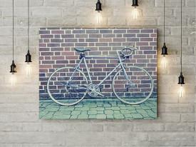 Tablou Canvas Bicicleta langa Zid