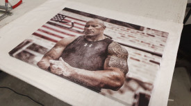 Tablou canvas - Dwayne Johnson
