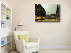 Tablou canvas efect painting - Oras vechi