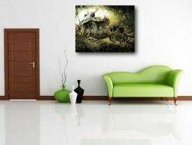 Tablou canvas efect painting - Razboi 01