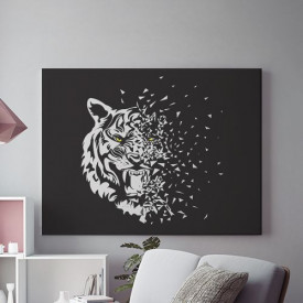 Tablou Canvas Glass Tiger- 01