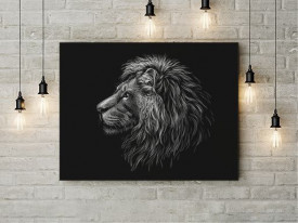 Tablou Canvas Grey lion- 01