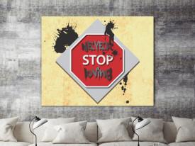 Tablou canvas - Never Stop Loving