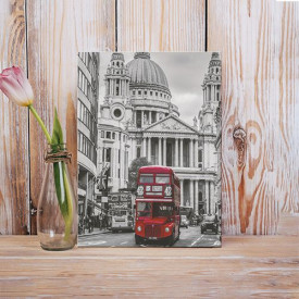 Tablou Canvas Red bus