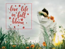 Tablou motivational - Live life in full bloom