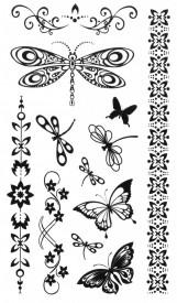 Tatuaj temporar -libelula- 10x17cm