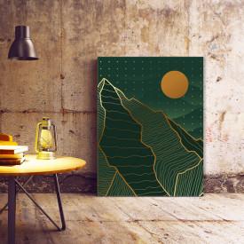Set tablouri canvas - Abstract dots golden landscape
