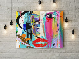 Tablou Canvas Abstract Face