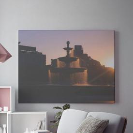 Tablou Canvas Arteziene la Apus