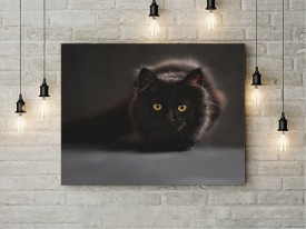 Tablou Canvas Black Cat