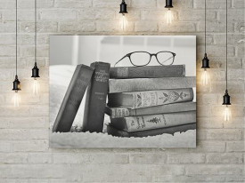 Tablou Canvas Books in Black and White