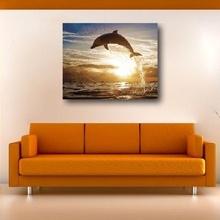 Tablou canvas - Delfin in apa
