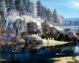 Tablou canvas efect painting - Peisaj