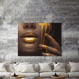 Tablou Canvas Golden temptation 3