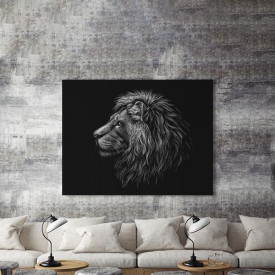 Tablou Canvas Grey lion