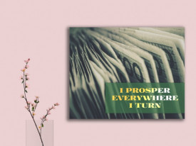 Tablou canvas motivational - I Prosper