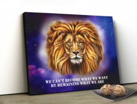 Tablou canvas motivational - Wise Lion
