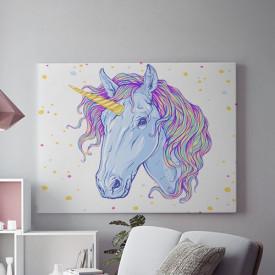 Tablou Canvas Painted unicorn-01