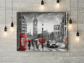 Tablou Canvas Rainy day in London
