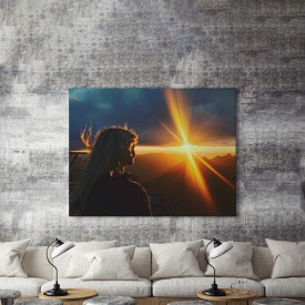 Tablou Canvas Watch the sunrise