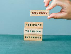 Tablou motivational - Success (bricks)