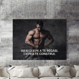 Tablou motivational - Viata nu este despre a te regasi