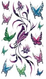Tatuaj temporar -fluturi multicolori- 17x10cm
