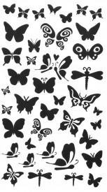 Tatuaj temporar -fluturi negri- 10x17cm