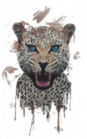Tatuaj temporar -Leopard- 17x10cm
