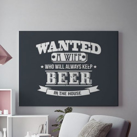 Wanted a wife with beer