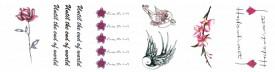 Set 6 tatuaje temporare -Until the end of world- 9x5cm